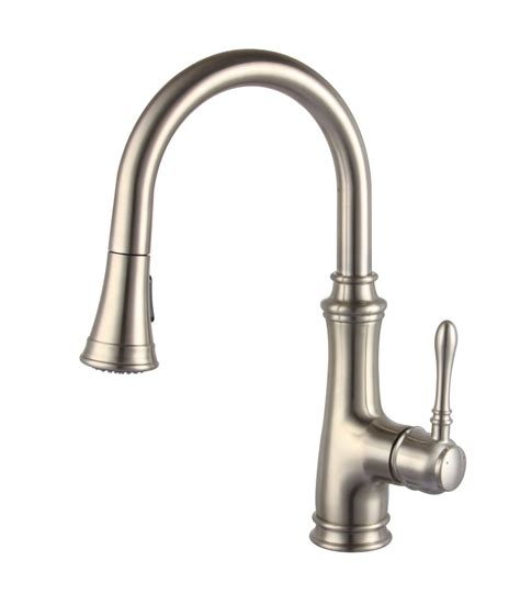 kitchen faucet plumbing delta brushed nickel pull kitchen faucet