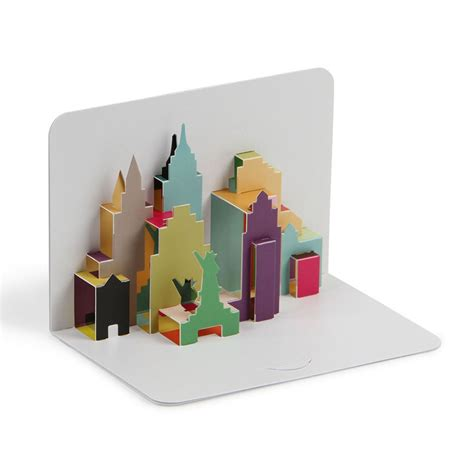 pop up card for new york city skyline 3d pop up card