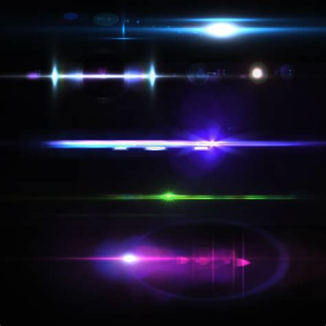 photoshop lights coloured lights collection psd file free