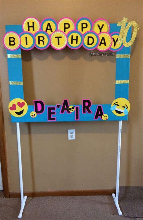frame decorations diy emoji photo booth frame decorations all custom