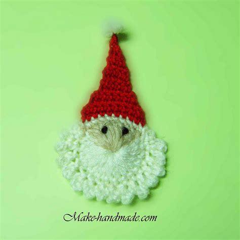 crochet craft projects crafts ideas easy santa crochet tutorial make