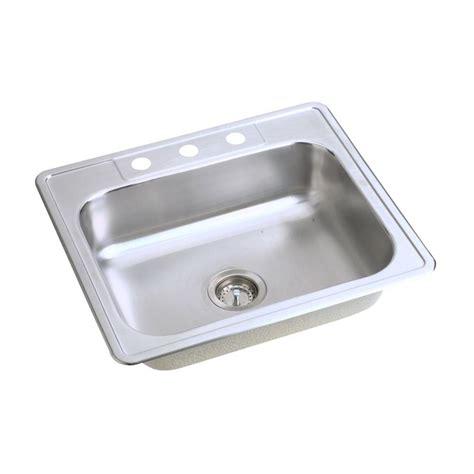 single basin kitchen sinks glacier bay drop in stainless steel 25 in 4 single