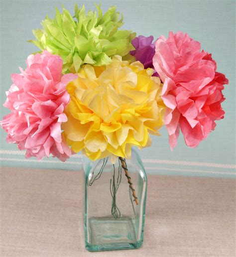 crafts with tissue paper tissue paper flowers