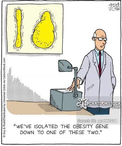 Obesity Cartoons and Comics - funny pictures from CartoonStock Genetics Jokes