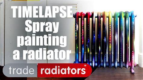 spray painting radiators spray painting a radiator timelapse