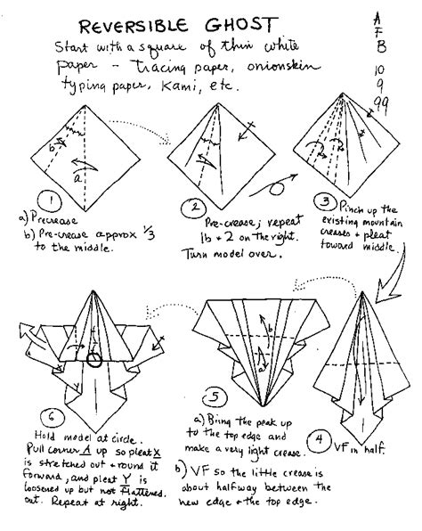 origami ghost origami learn how to make themed origami
