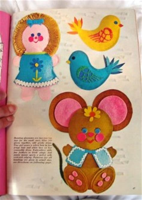 felt craft projects patterns susie can stitch vintage mccalls felt craft book