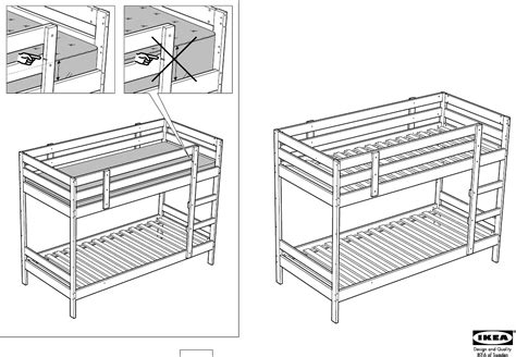 ikea beds bunk bed ikea mydal bunk bed frame assembly