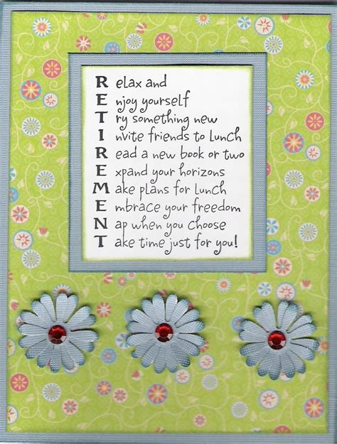 ideas for retirement cards to make retirement scrapbook quotes card retirement