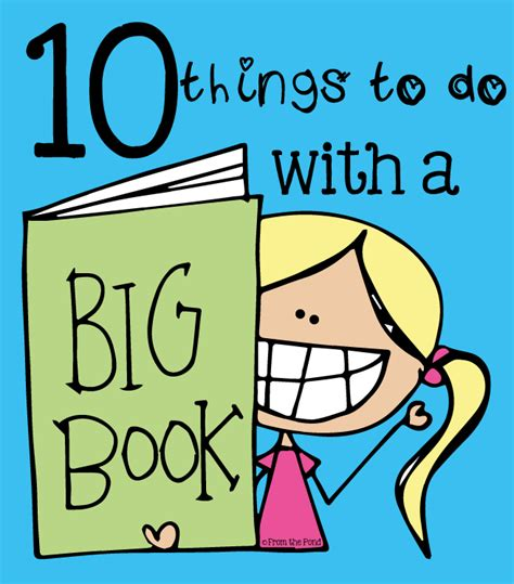 big book of pictures 10 things to do with a big book from the pond