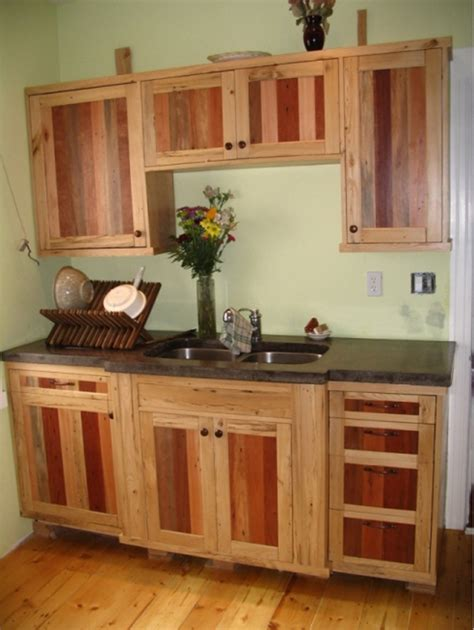 What Are Kitchen Cabinets Made Of pallet wood kitchen cabinets