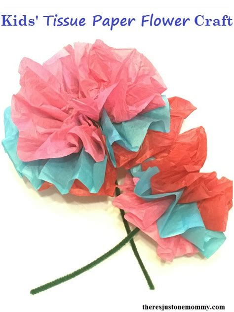 tissue paper flower craft for tissue paper flower craft there s just one