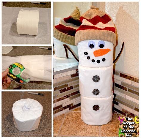 toilet paper craft toilet paper snowman craft