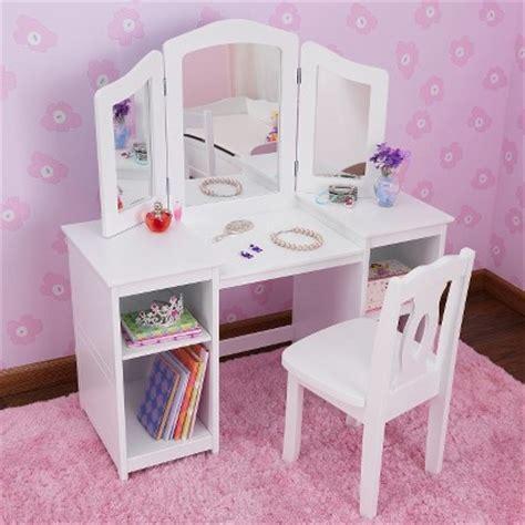 kid craft vanity kidkraft deluxe vanity table with chair white target