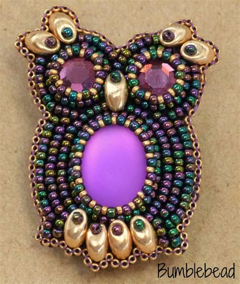 bead embroidery stitches pdf tutorial bead embroidered owl brooch tutorial pdf a seed