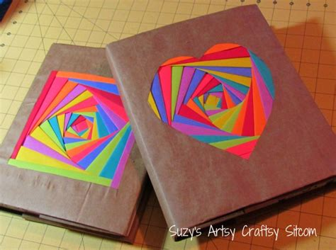 paper craft ideas for teenagers creating colorful book covers with astrobrights papers