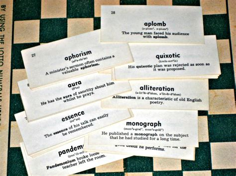 how to make vocabulary flash cards 50 vintage vocabulary cards flash cards for