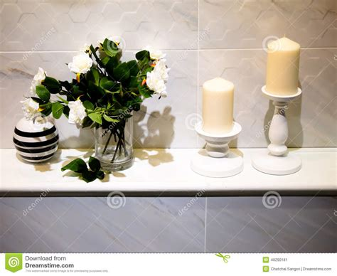 modern bathroom decorations bathroom decor stock image image of candle