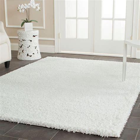 white shag area rug safavieh california shag white 8 ft x 10 ft area rug