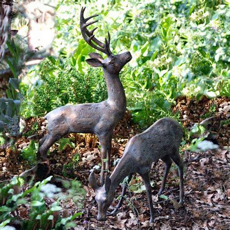 Garden Accessories Sale Uk Deer Garden Ornaments Statues Sculptures With Bronze Finish