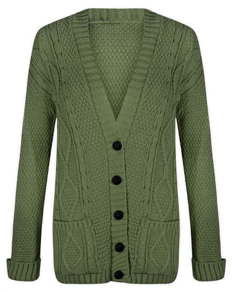 womens cable knit cardigan womens chunky cable knit cardigan button