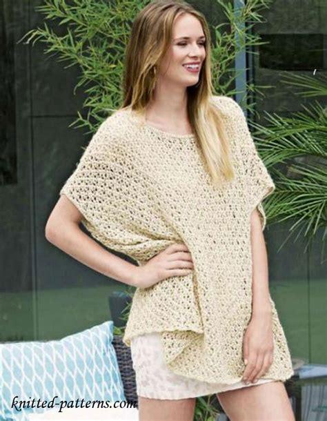free poncho knitting patterns summer lace poncho