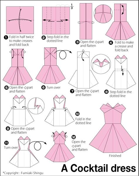 easy origami dress 25 best ideas about origami dress on diy