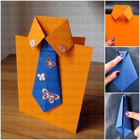 how to make a tie card diy tie and shirt greeting card