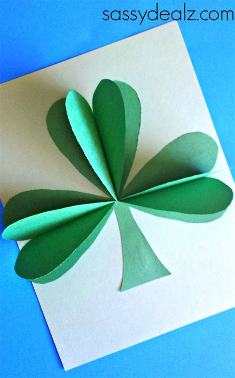 3d craft paper 3d paper shamrock craft for st s day crafty morning
