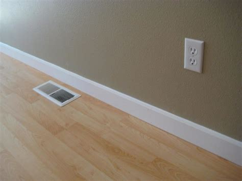 Crown Molding Floor by Interior Design Detail Beige Wall Clean White Baseboard