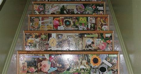 decoupage stairs decoupage stairs craft ideas staircases