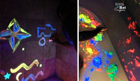 glow in the paint mixed with water water