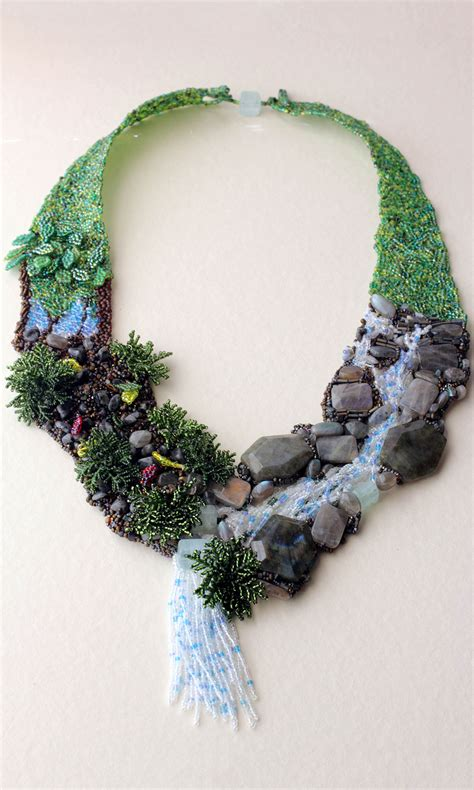 bead designs jewelry design bib style necklace with seed and