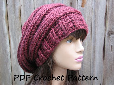 slouchy hat knitting pattern for beginners basic slouchy beanie crochet pattern crochet and knit