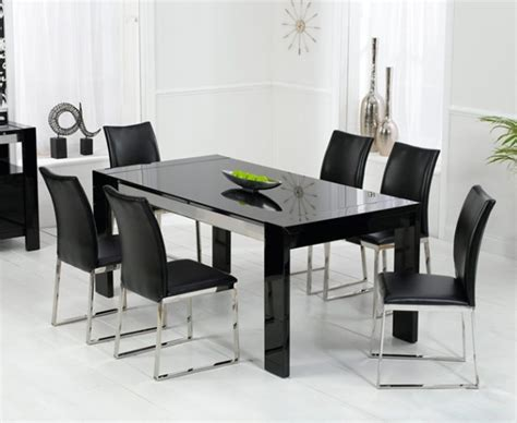 modern black dining table high quality interior exterior