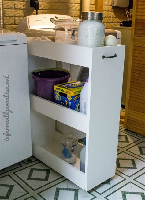 laundry room storage cart slim rolling laundry room storage cart free diy plan