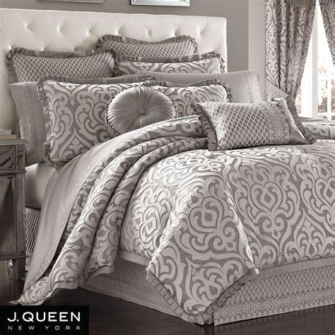 silver bedding set babylon scroll comforter bedding by j new york