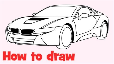 how to draw a car 8 steps with pictures wikihow how to draw a car bmw i8 step by step easy