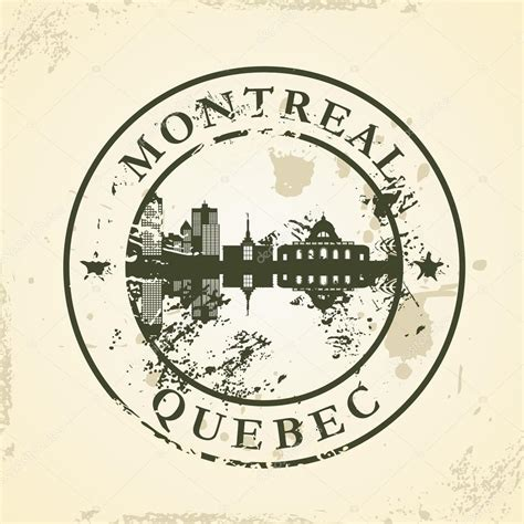 rubber sts montreal grunge rubber st with montreal stock vector