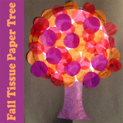 tissue paper arts and crafts for stained glass tissue paper fall tree make and takes
