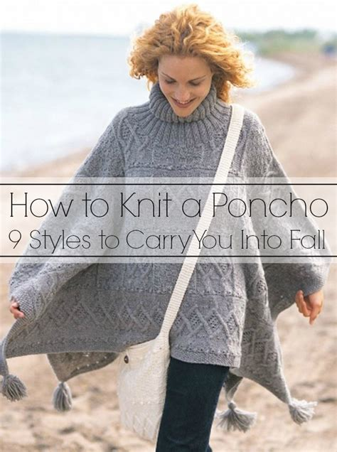 how to knit a poncho knit poncho on