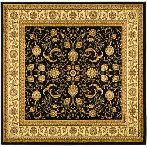 6 square area rug safavieh lyndhurst black ivory 6 ft x 6 ft square area