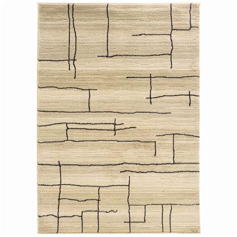 allen roth area rugs shop allen roth lort ivory rectangular indoor machine