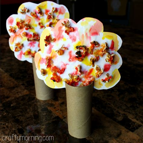 popcorn crafts for beautiful popcorn fall tree craft crafty morning