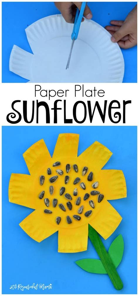 paper plate craft work crafts paper and kid on