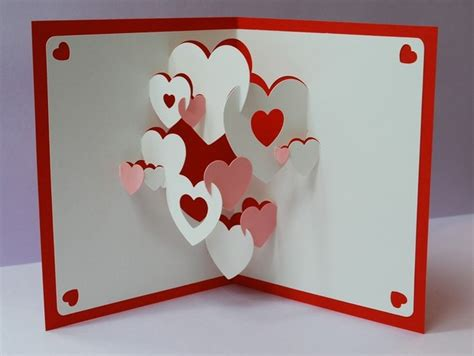up greeting cards 3d cards hearts 3d pop up greeting card a unique
