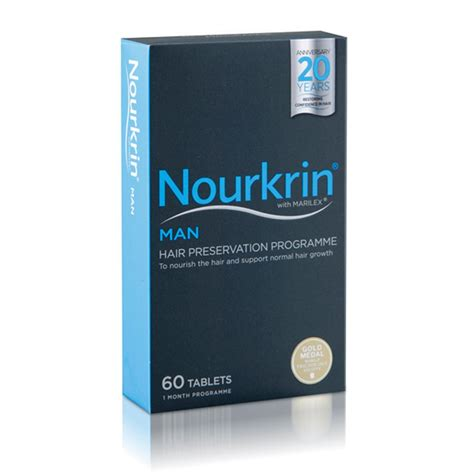 Shower Tabs by Nourkrin Man 60 Tablets Free Scalp Lotion Dated 09 2017