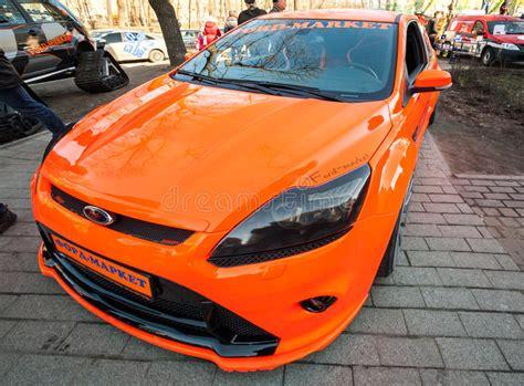 Bright Orange Car by Bright Orange Sporty Styled Ford Focus Car Editorial Photo