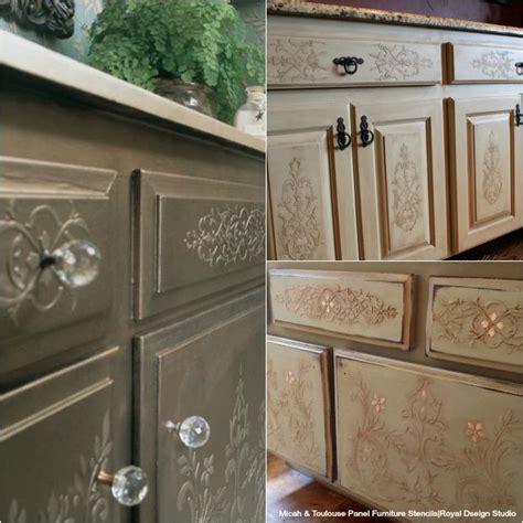 painting ideas flat kitchen cabinet doors 20 diy cabinet door makeovers with furniture stencils