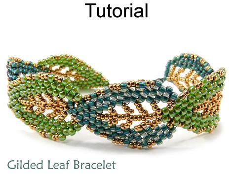 peyote bead bracelet patterns leaf bracelet jewelry tutorial beading pattern